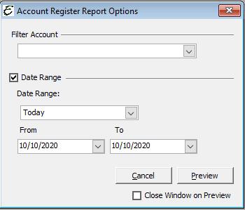 Report Options