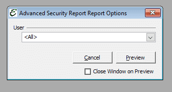 Advanced Security Report Options