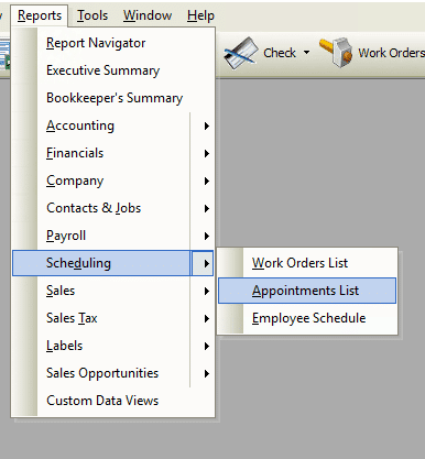 Appointment Lists Report File Path