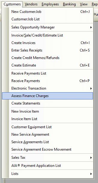 Assess Finance Charge File Path
