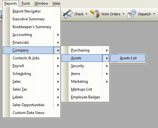 Asset List Report File Path