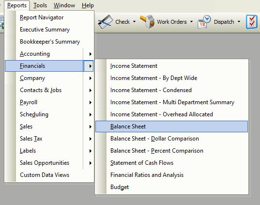 Balance Sheet File Path