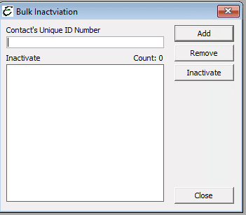 Bulk Inactivation Form