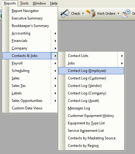 Contact Log (Employee) File Path