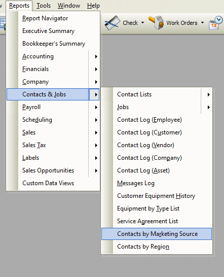 Contacts by Marketing Source File Path