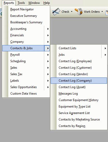 Contact Log (Company) File Path