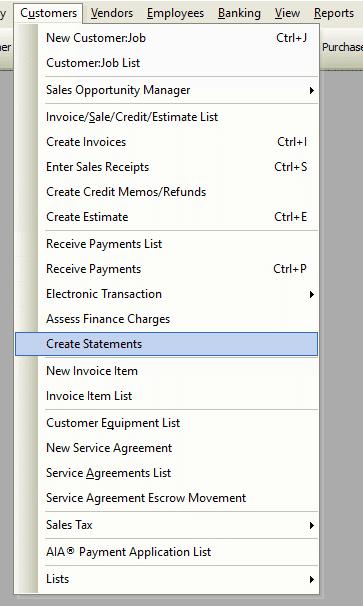 Create Statements File Path