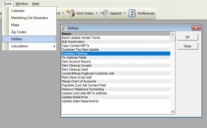 Database Checkup File Path