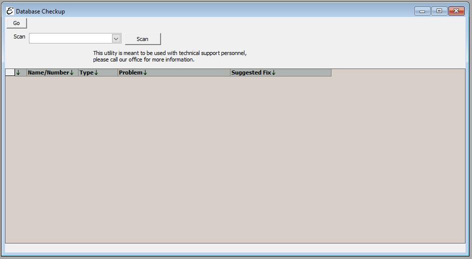 Database Checkup Form