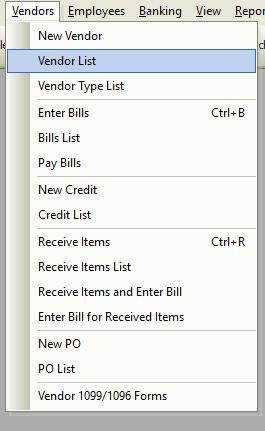 Vendor List File Path