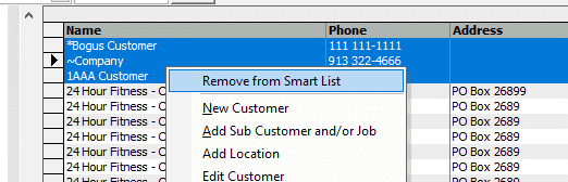 Remove From Smart List