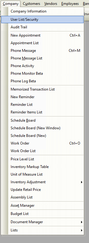 User List/Security File Path