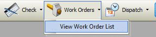 Work Order List Toolbar