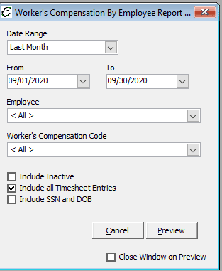 Worker's Compensation by Employee Options