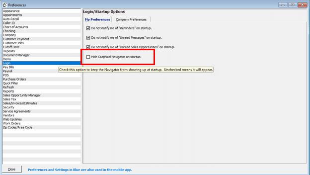 Workflow Navigator Preference