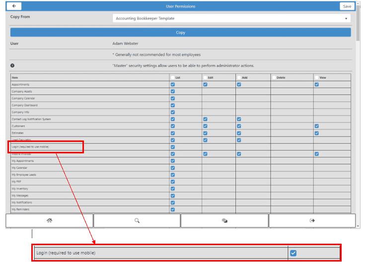 Aptora Mobile II - User Configuration/Setup -Login (required to use mobile)