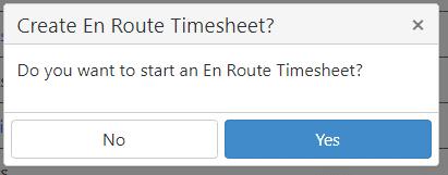 En Route Timesheet