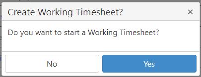 Working Time Sheet