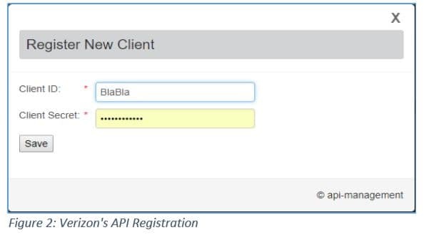 register new client verizon