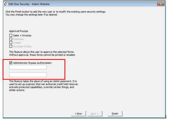 Administrator Bypass Authorization Form