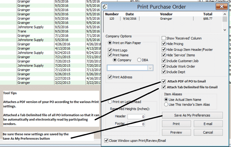 Purchase Order Tab Separated File Format