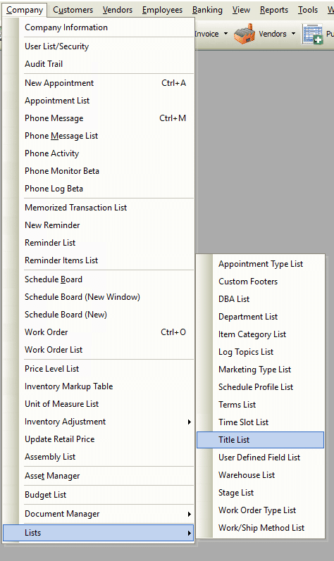 Customer:Job - Title List File Path