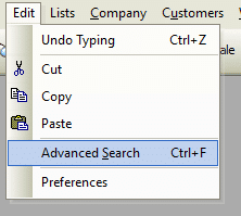 Advanced Search File Path